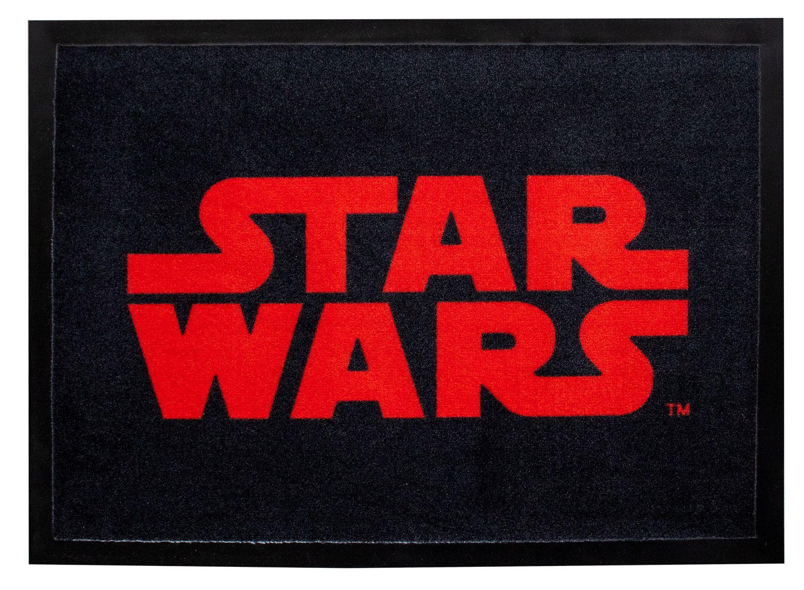 """Kinder-Matte Star Wars """"Logo in Rot"""" 70 x 50 cm Türmatte"""