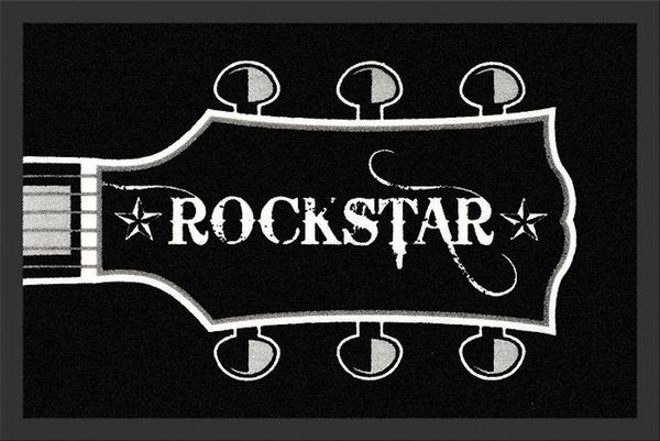 Fußmatte- Rockstar Guitar Head, Sauberlaufmatte, Türmatte, Fußabtreter, schmutzmatte