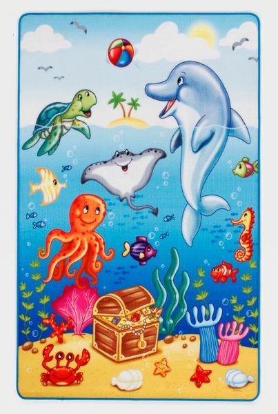 Kinderteppich- Lovely Kids 100 x 160 cm Tier unter Wasser , Spielteppich