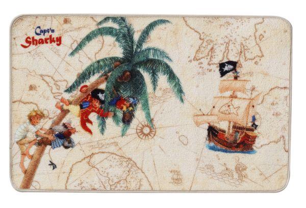 """Kinderteppich- Der Pirat """"Captin Sharky"""" und seine Freunde"""