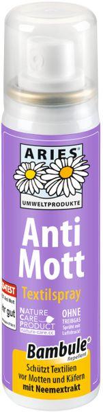 Aries- Anti Mott Textilspray 200ml ohne Treibgas- sprüht mit Luftdruck