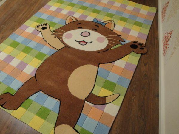 Kinderteppich- Bubibatz, die Kazte 200 x 150 cm Gustav und seine Freunde