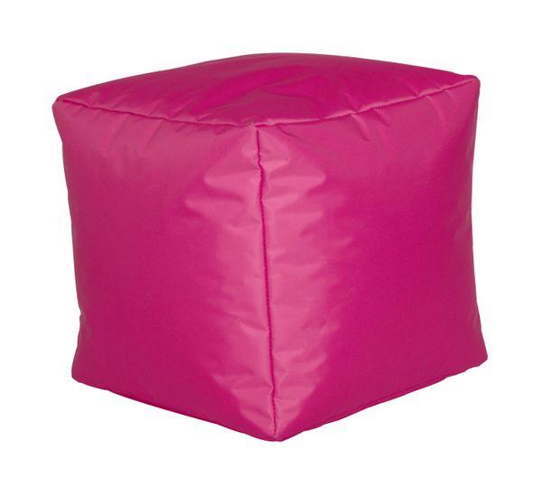 Sitzwürfel Nylon fuchsia 40/40/40 cm