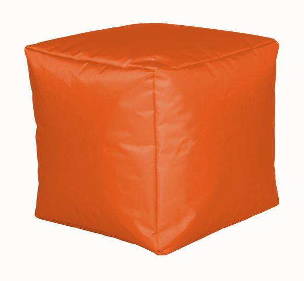 Sitzwürfel Nylon orange 40/40/40 cm