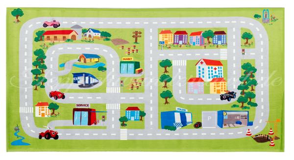 """Kinderteppich- """"Bobby Car""""  Spielstrasse- Spielteppich"""