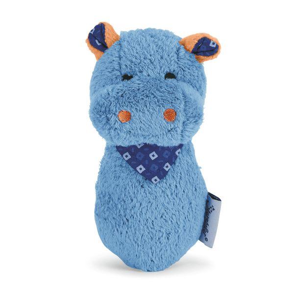 "Sterntaler- Zwitscher-Figur ""Nobert -Nilpferd"" ca. 13 cm groß in Blau"