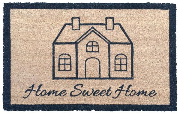 """Astra- Kokosmatte 60 x 90 cm """"Home Sweet Home"""", Sauberlaufmatte, Innenmatte, Türmatte, Fußmatte"""