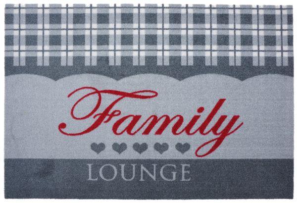 "Astra- Matte in 50 x 70 cm ""Family Lounge"", Sauberlaufmatte, Innenmatte, Türmatte, Fußmatte"