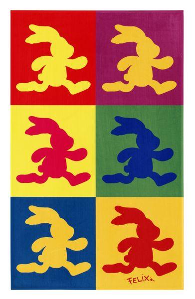 Kinderteppich-  FELiX Spiel und Lern Teppich 100 x 160 cm Schablone, Teppich