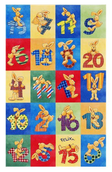 Kinderteppich-  FELiX Spiel und Lern Teppich, Zahlen Lernen, in Zwei Größen, Teppich