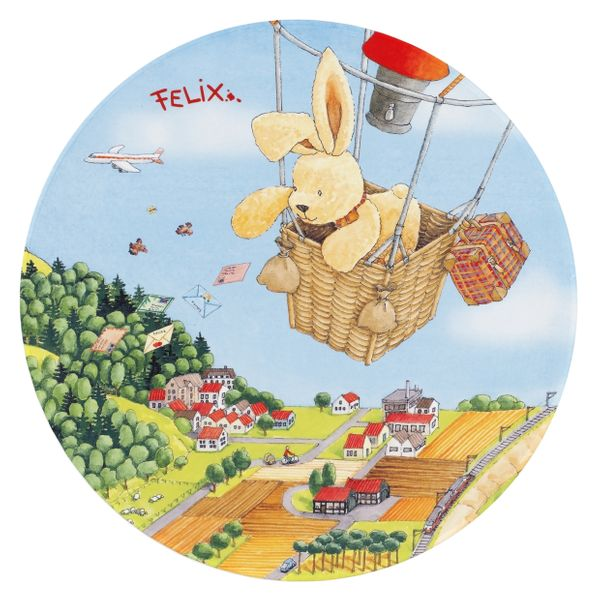 Kinderteppich-  FELiX Spiel und Lern Teppich, 100 Rund beim Ballonfahrt, Teppich