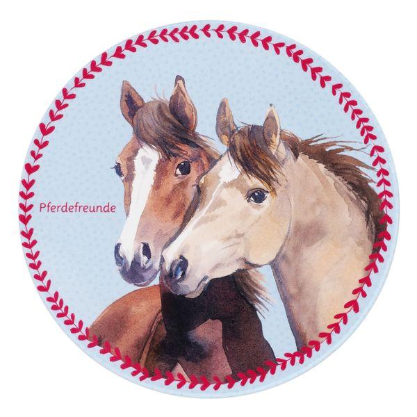 Kinderteppich-  Pferdefreunde 100 cm Rund Mädchen- Teppich