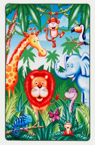 """Kinderteppich- """"Lovely Kids""""  Im Jungel in 100 x 160 cm, Spielteppich, Kinderzimmer"""