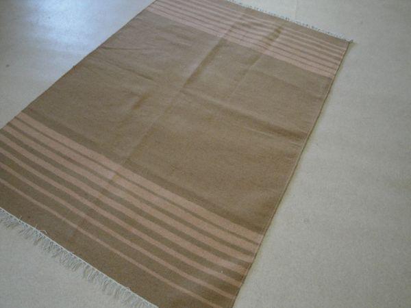 Kelim Indien aus Baumwolle ca 200 x 140 cm Handgewebt mit Fransen 1387
